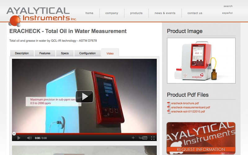 Ayalytical product page.